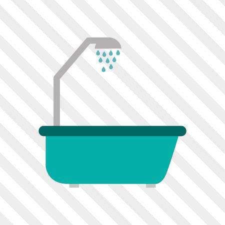 luxury homes: Bathroom concept with icon design,