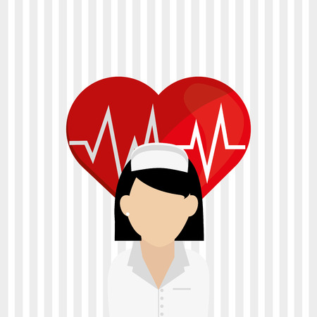 medical heart: medical care concept with icon design, vector illustration 10 eps graphic.