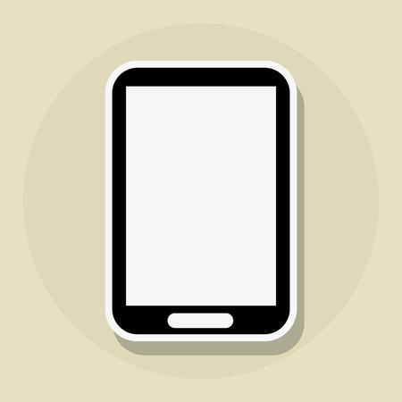 smartphone icon: smartphone concept with icon design, Illustration