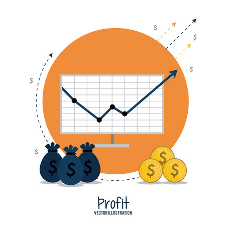 fund world: Profit concept with financial item icon design, vector illustration 10 eps graphic.