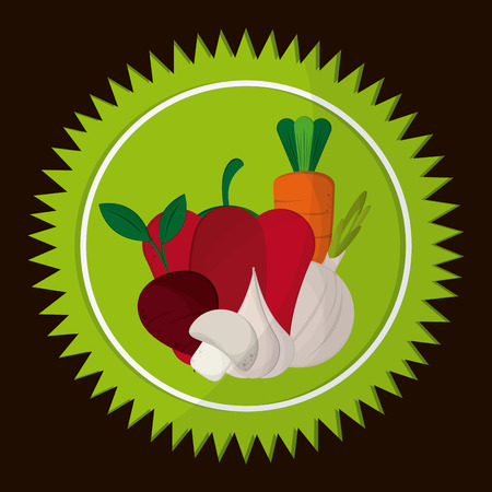 heathy: Organic food concept with heathy food icon design, vector illustration 10 eps graphic.