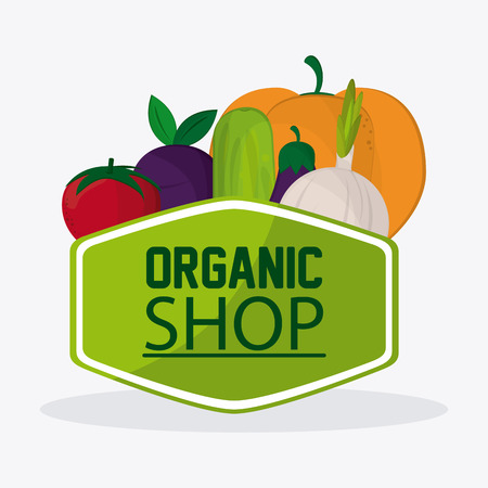 Organic food concept with heathy food icon design, vector illustration 10 eps graphic.