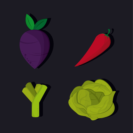 heathy: Organic food concept with heathy food icon design, vector illustration 10 eps graphic.
