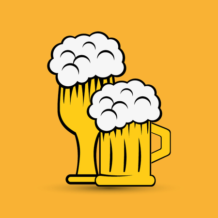 fresh brewed: beer  concept with icon design