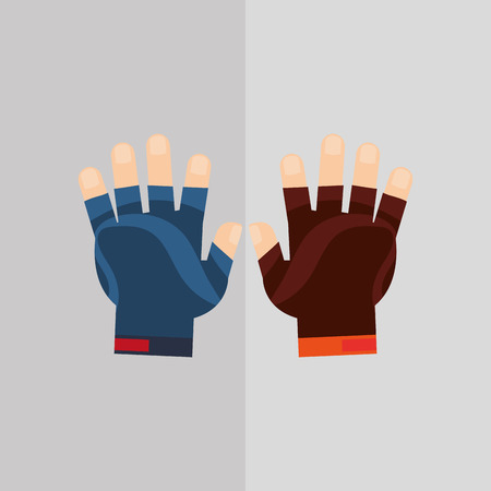 doctor gloves: healthy lifestyle concept with icon design Illustration