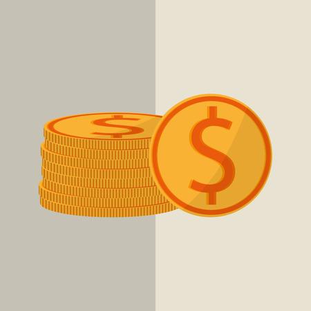 fund world: Profit concept with money icon design