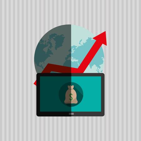 economic forecast: Profit concept with money icon design