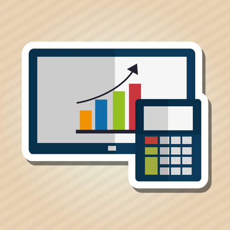 economic forecast: Profit concept with money icon design