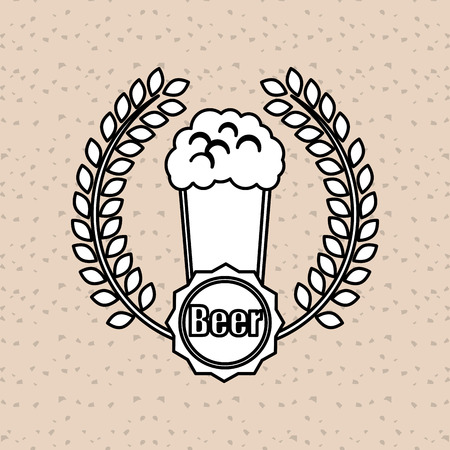 fresh brewed: beer  concept with icon design, vector illustration 10 eps graphic. Illustration
