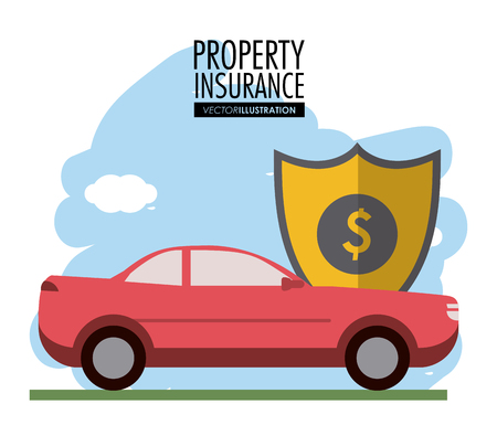 value system: Insurance concept with protection icon design, vector illustration 10 eps graphic.
