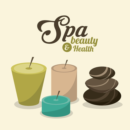 pampering: Spa center concept with icon design, vector illustration 10 eps graphic.