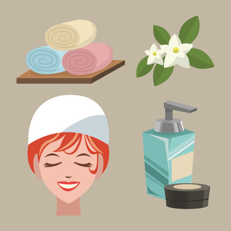bath treatment: Spa center concept with icons design, vector illustration 10 eps graphic.