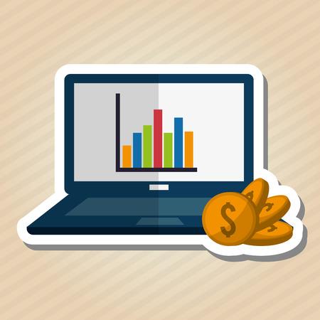 fund world: Profit concept with money icon design, vector illustration 10 eps graphic. Illustration