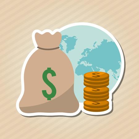 economic forecast: Profit concept with money icon design, vector illustration 10 eps graphic. Illustration