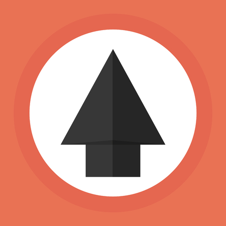 pointed arrows: technology concept with icon design, vector illustration Illustration