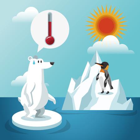 Opwarming van de aarde concept met pictogram ontwerp, vector illustratie 10 eps grafische.
