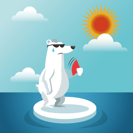 Global warming concept with icon design, vector illustration 10 eps graphic. 일러스트