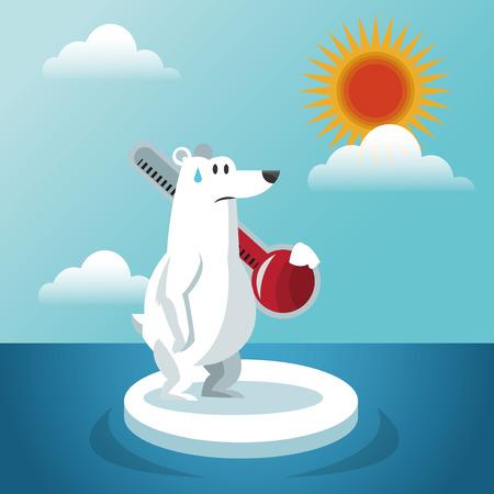 아이콘 디자인, EPS 10 그래픽 벡터 일러스트와 함께 지구 온난화 개념입니다.