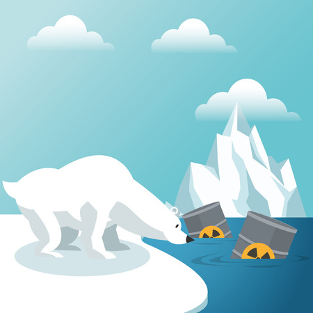 sea pollution: Global warming concept with icon design, vector illustration 10 eps graphic. Illustration