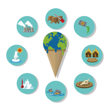 Global warming concept with icon design, vector illustration 10 eps graphic. 向量圖像