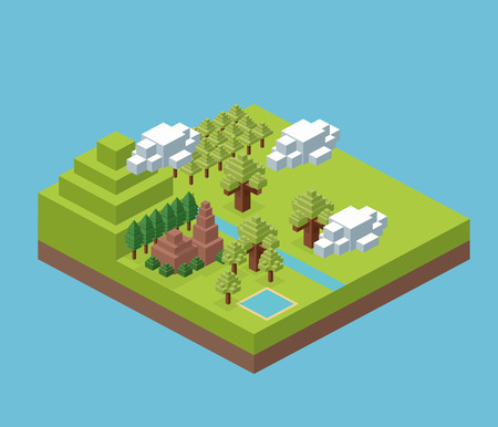 millimeters: Isometric concept with icon design, vector illustration 10 eps graphic.