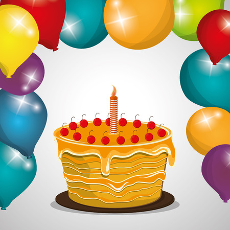 cartoon party: Happy Birthday concept with icon design, vector illustration 10 eps graphic. Illustration