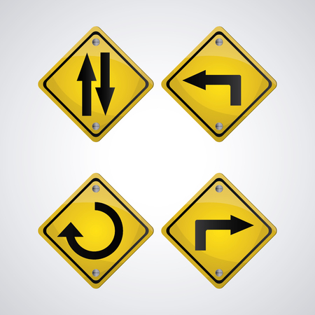 guide board: Road sign concept with icon design, vector illustration