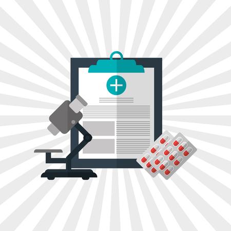 Medische zorg concept met design icoon