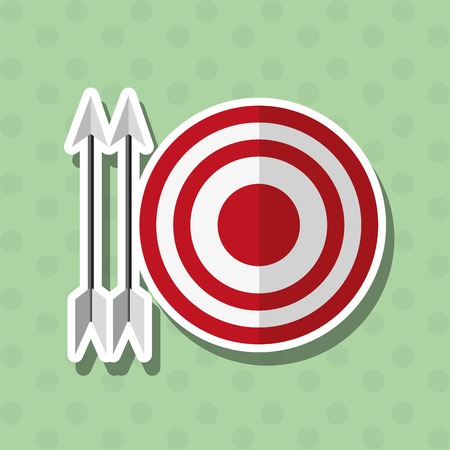 target thinking: idea concept with icon design, vector illustration 10 eps graphic.