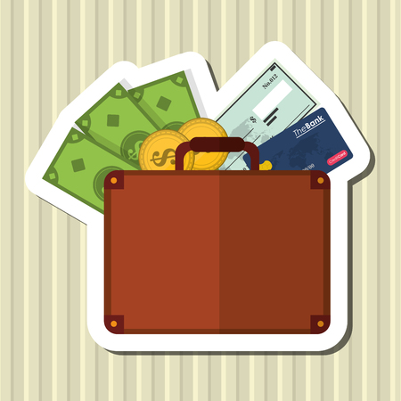paying bills: Shopping online  concept with icon design, vector illustration 10 eps graphic.