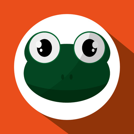 zoo amphibian: Animal concept with icon design, vector illustration 10 eps graphic.