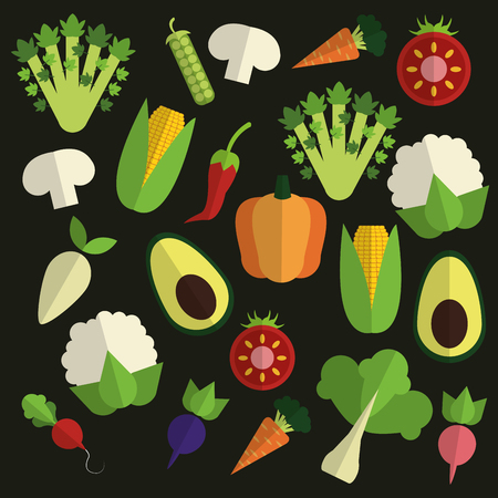 fresh produce: Organic food concept with icon design, vector illustration 10 eps graphic.