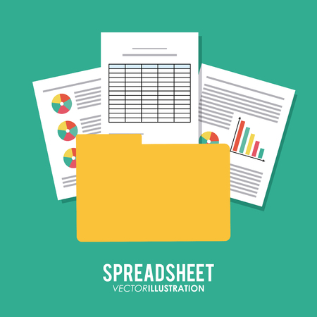spreadsheet: Spreadsheet concept with icon design, vector illustration 10 eps graphic. Illustration