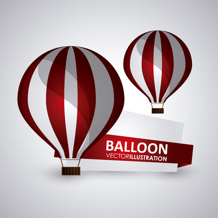 ballooning: Hot air balloon concept with icon design, vector illustration 10 eps graphic. Illustration