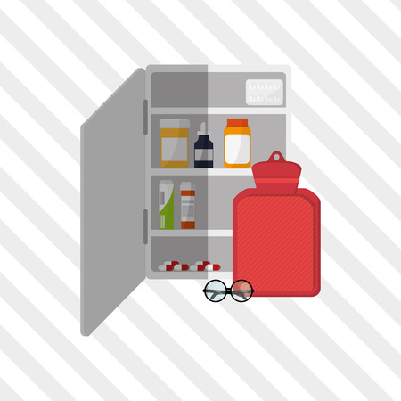 glasse: Medical care concept with icon design, vector illustration 10 eps graphic.