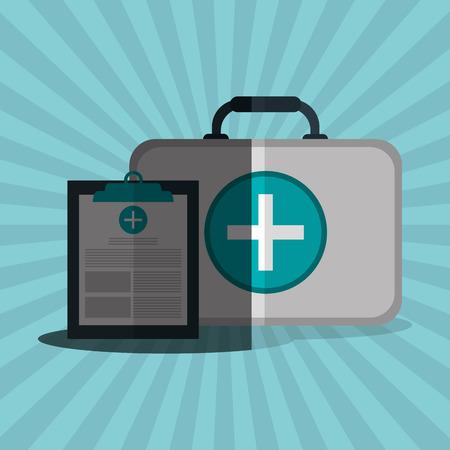 historia clinica: el concepto del cuidado m�dico con el dise�o de iconos, ilustraci�n vectorial eps 10 gr�fico. Vectores