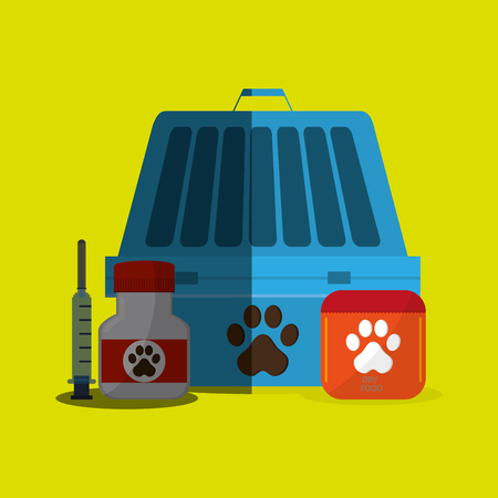 bonding: Animal shop concept with icon design, vector illustration 10 eps graphic.