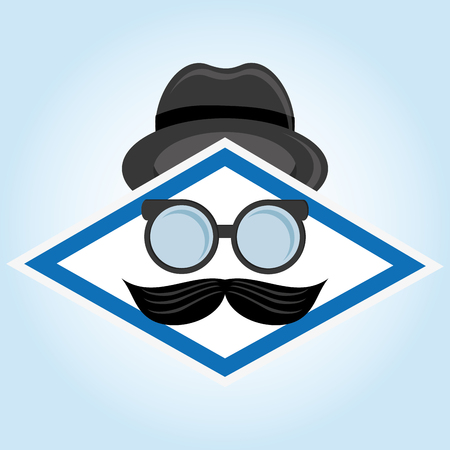 hipster style: Hipster style with icon design Illustration