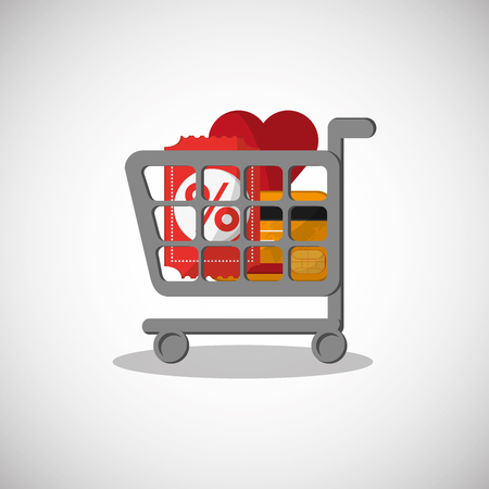 credit cart: Shopping online with icon design, vector illustration 10 eps graphic.
