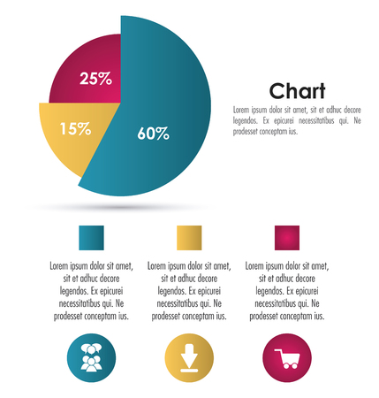 demographics: Infographic concept with chart icon design, vector illustration 10 eps graphic.