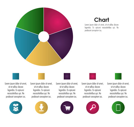 infomation: Infographic concept with chart icon design, vector illustration 10 eps graphic.