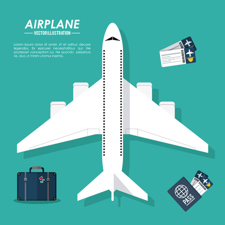 drive ticket: Airplane concept with icon design, vector illustration 10 eps graphic. Illustration