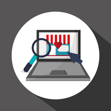 Shopping online with icon design, vector illustration 10 eps graphic.