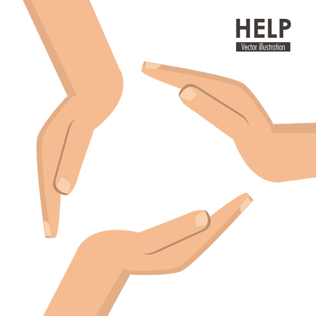 constructing: Help concept with icon design, vector illustration 10 eps graphic.