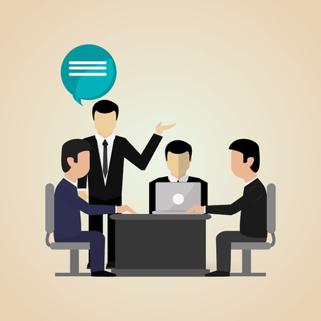 associates: Business concept with icon design, vector illustration 10 eps graphic