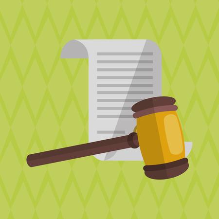 Recht und Gerechtigkeit Konzept mit Icon-Design, Vektor-Illustration 10 EPS-Grafik