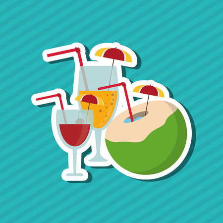 summertime: Vacation concept with icon design, vector illustration 10 eps graphic