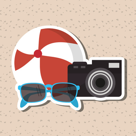 vacation summer: Vacation concept with icon design, vector illustration 10 eps graphic