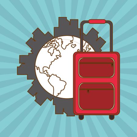Vacances notion avec la conception de l'icône, illustration vectorielle 10 eps graphique