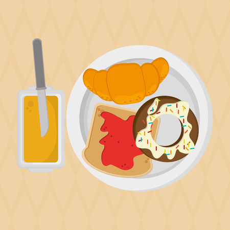 Breakfast concept with icon design, vector illustration 10 eps graphic. Illustration
